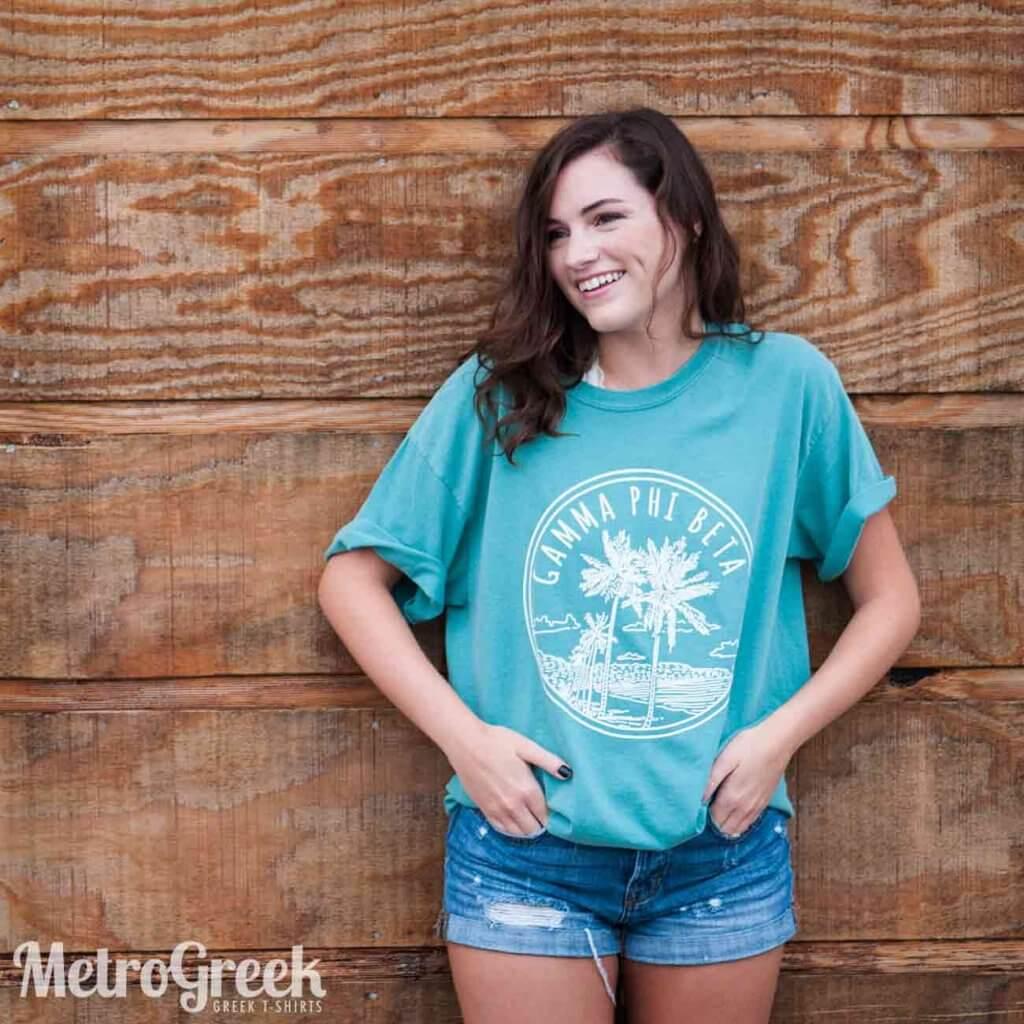 Gamma Phi Beta Beach Shirt