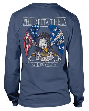 Phi Delta Theta Rush Shirt with Eagle