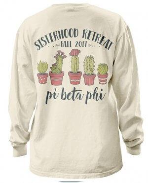 Pi Beta Phi Shirt Cactus