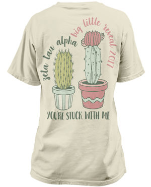 Zeta Tau Alpha Big Little Shirt Cactus