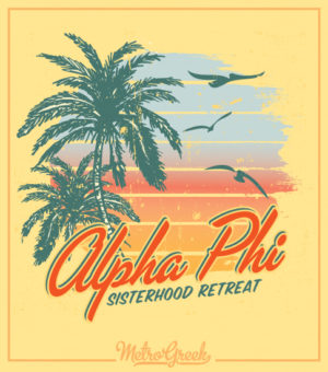 Alpha Phi Beach Retreat Shirt
