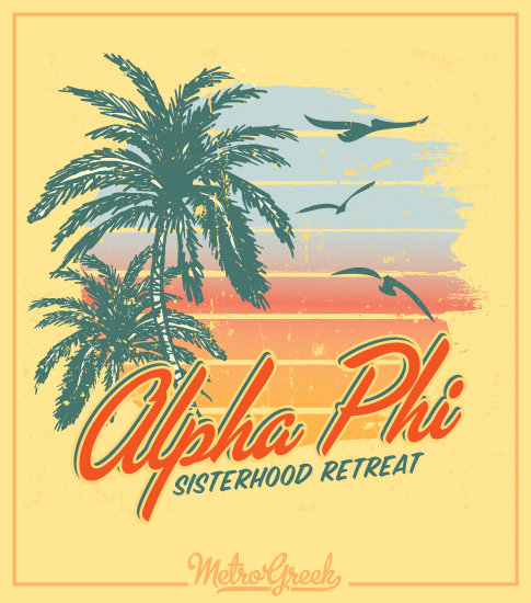 Alpha Phi Beach Retreat Shirt