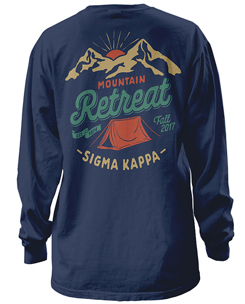 1490 sigma kappa mountain shirt greekshirts for Sorority t shirt design
