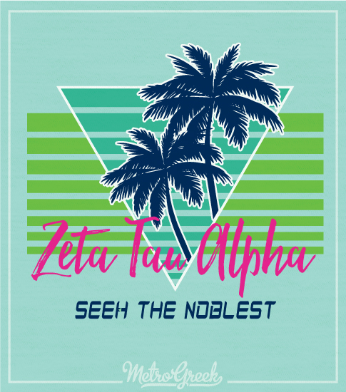Zeta Tau Alpha Retro Tank Top