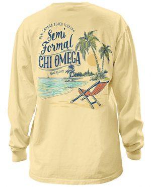 Chi Omega Beach Formal T-shirt