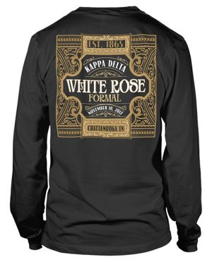 Kappa Delta White Rose Formal T-shirt