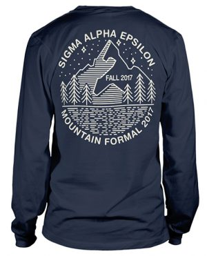 Sigma Alpha Epsilon Mountain Formal T-shirt