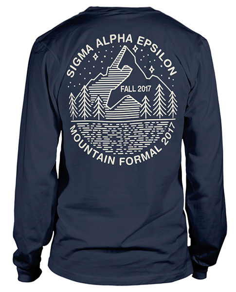 6077 sigma alpha epsilon mountain formal t shirt greek for Sorority t shirt design
