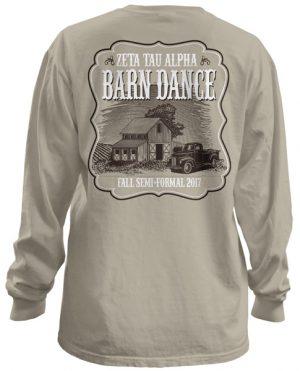 Zeta Tau Alpha Barn Formal T-shirt