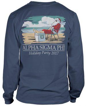 Alpha Sigma Phi Christmas T-shirt