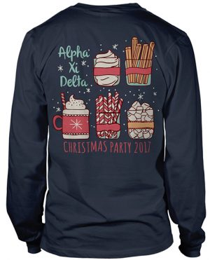 Alpha Xi Delta Christmas T-shirt