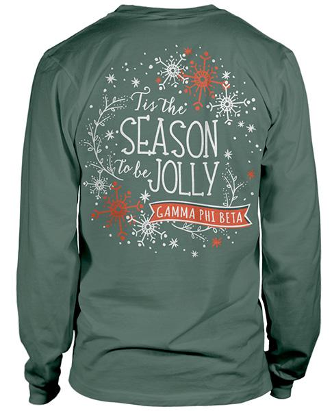 Gamma Phi Beta Christmas T-shirt