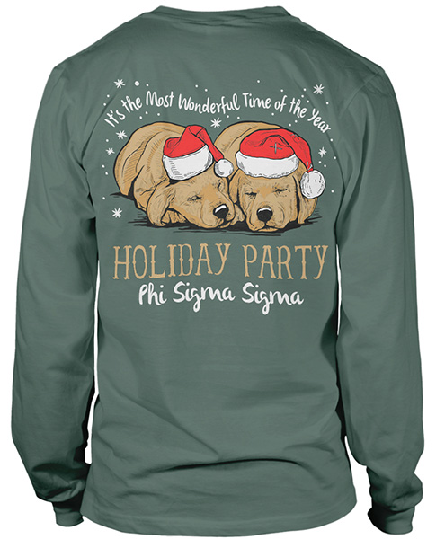 Phi Sigma Sigma Holiday Party T-shirt