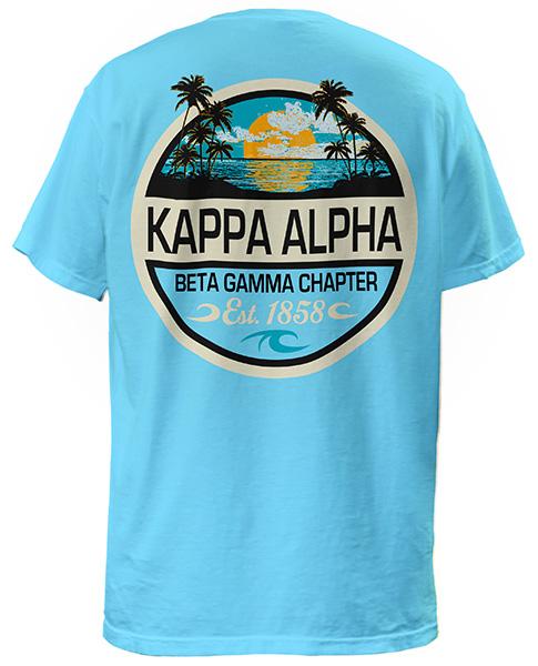 Kappa Alpha Palm Sunset T-shirt