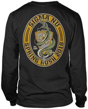 Sigma Nu Rush T-shirt Snake