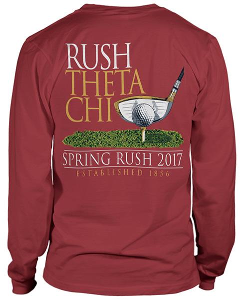 2689 theta chi golf rush t shirt greek shirts for Fraternity t shirt design