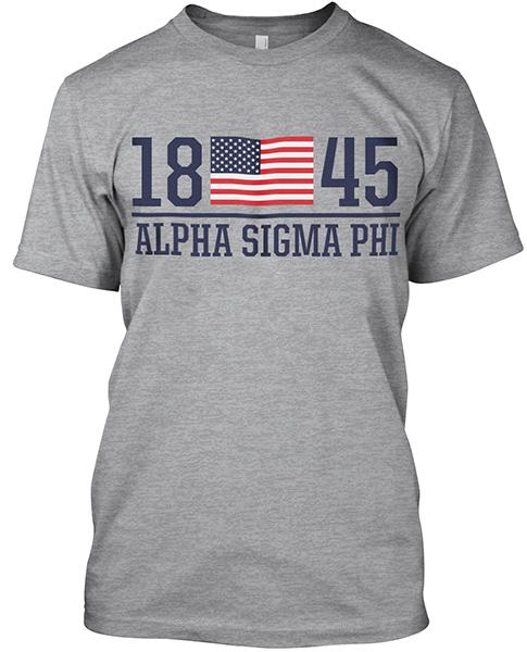 Alpha Sigma Phi Founding Flag Shirt
