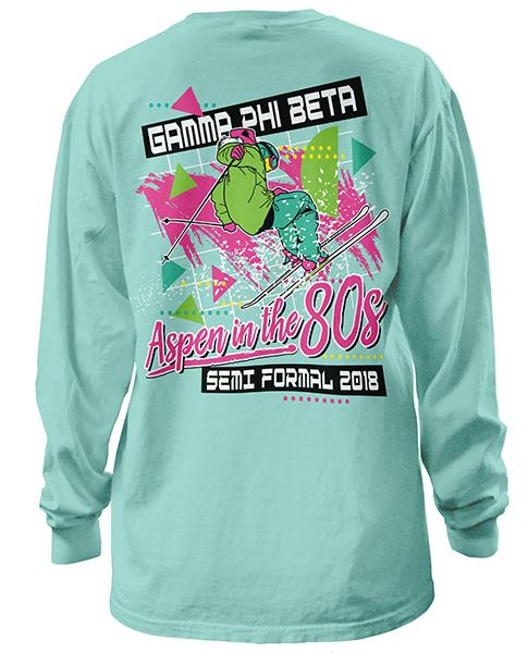 Gamma Phi Beta Aspen 80s Shirt