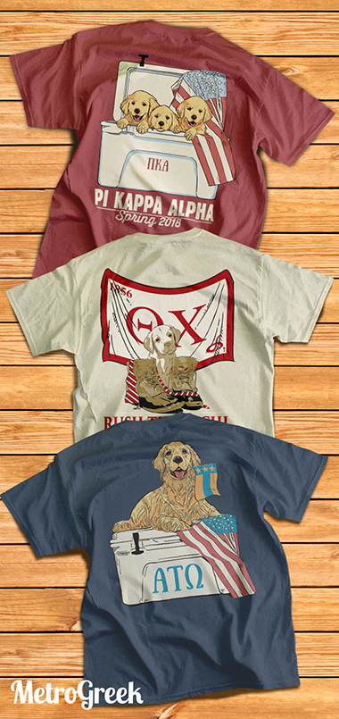 Greek Shirts with Lab Puppies