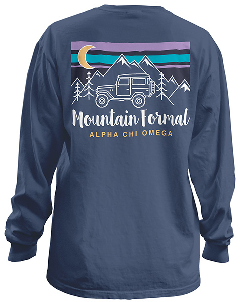 Alpha Chi Omega Mountain Formal Shirt