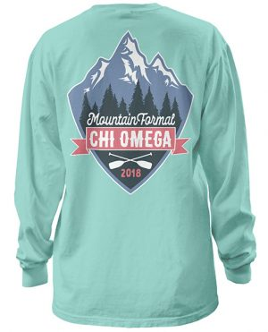 Chi Omega Mountain Formal Shirt