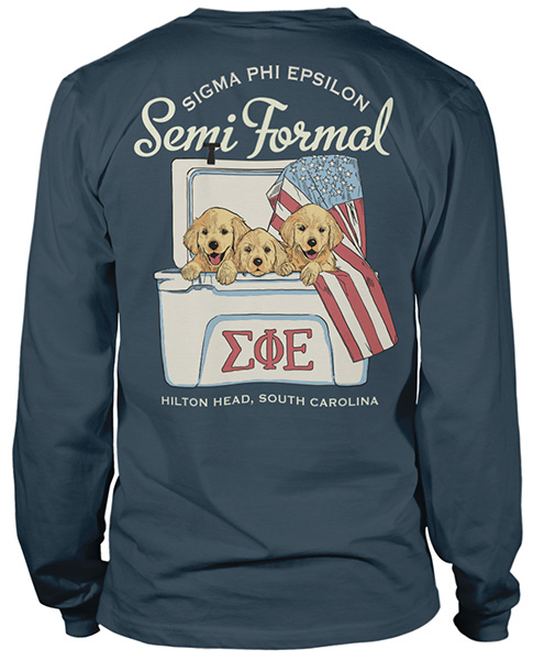 Sig Ep Formal T-shirt Puppies