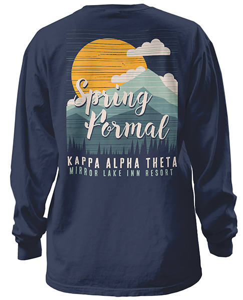 6099 theta spring mountain formal t shirt greekshirts for Sorority t shirt design