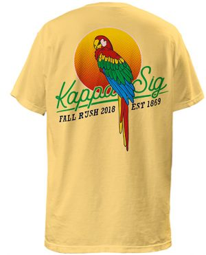 Kappa Sigma Rush Shirt Parrot