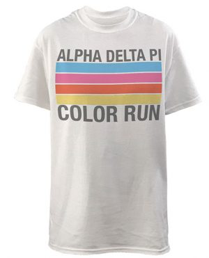 Alpha Delta Pi Color Run Shirt