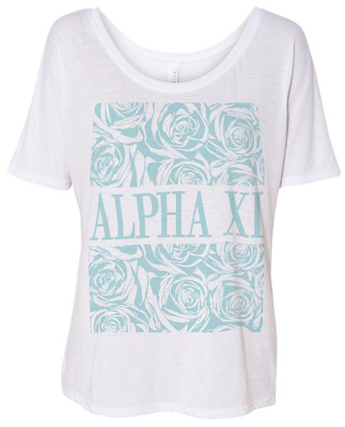 Alpha Xi Delta Shirt Floral