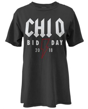 Chi Omega Rock Bid Day shirt