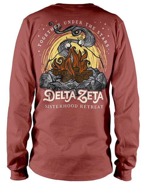 Delta Zeta T-shirt Campfire