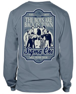 Sigma Chi Rush Shirt Boys Back