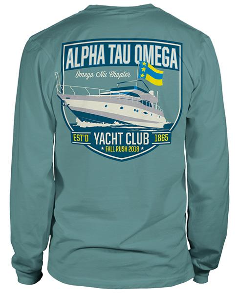 Alpha Tau Omega Rush Shirt Yacht