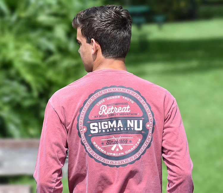 e9a16574 Shirts. See all of our customizable fraternity shirt designs