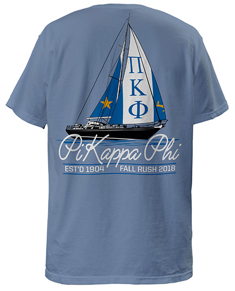 Pi Kappa Phi Rush Shirt Sailboat