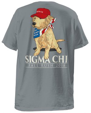Sigma Chi Rush Shirt Red Cap