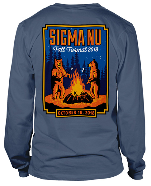 Sigma Nu Formal Shirt Bears