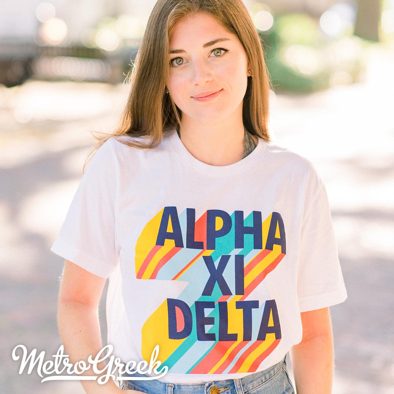 Alpha Xi Delta Big Print shirt