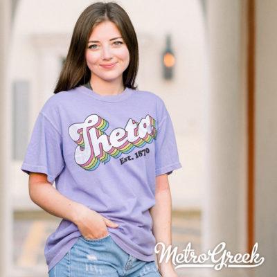 Theta Retro Style Shirt