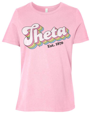 Theta Seventies Font T-shirt