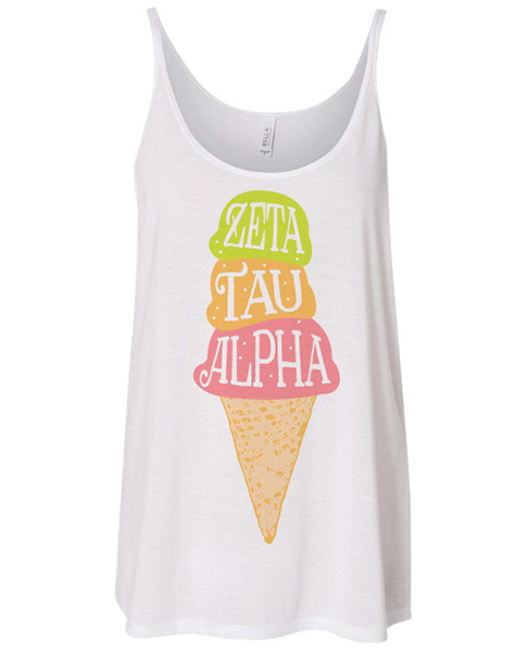 Zeta Tau Alpha Ice Cream Bid Day Shirt