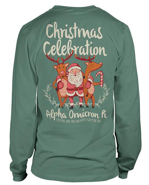 AOPi Christmas Holiday Shirt