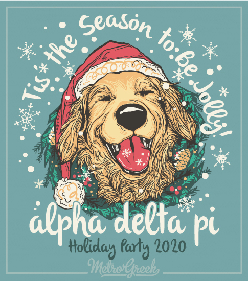 Alpha Delta Pi Holiday Retriever Shirt