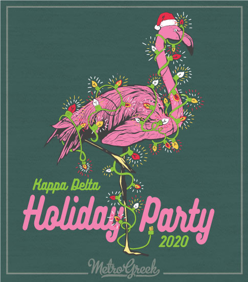 Kappa Delta Flamingo Holiday Party Shirt