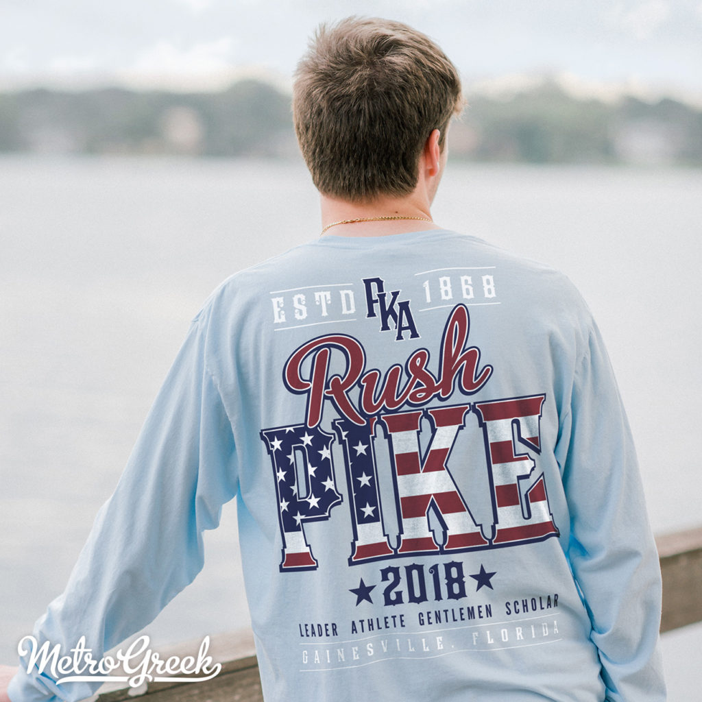 Pike Rush Shirt Red, White and Blue Patriotic