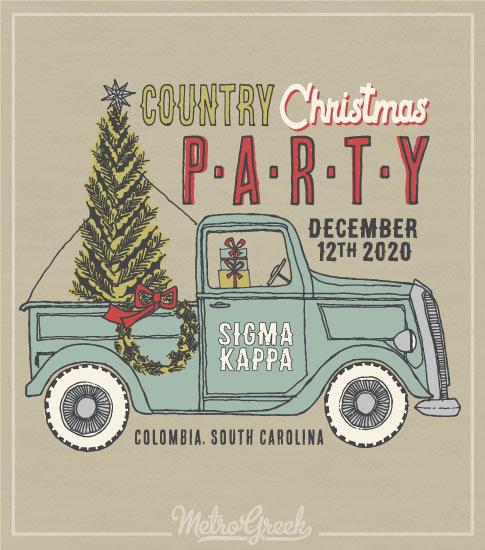 Sigma Kappa Pick-up Christmas Shirt