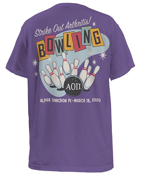 Alpha Omicron Pi Bowling T-shirt