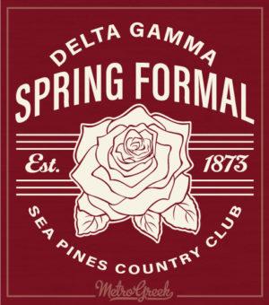 Delta Gamma Rose Formal Shirt