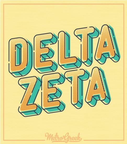 Delta Zeta T-shirt Big Font